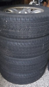 BF Goodrich Long Trail T/A Tour (4) 215/70R16 100 H plus wheels