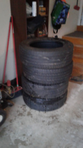 """4 used 18"""" truck tires"""