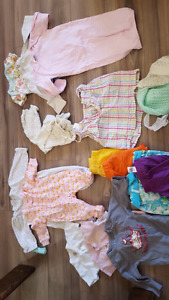 NB to 3 months girls clothing