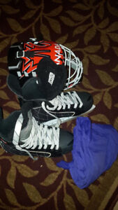 Ice skates, mask & pants