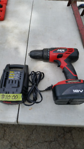 SKIL 18 VOLT DRILL, BATTERY AND 9.8 TO 18 VOLT CHARGER