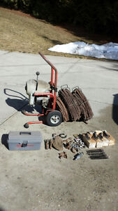 K75 Ridgid Drain cleaner complete with attachments.