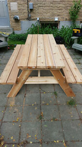 6' Hand Crafted 2x6 Cedar or Pressure Treated Picnic Table London Ontario image 2