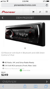 Pioneer DEH-P6200BT CD Receiver with Built-In Bluetooth and USB