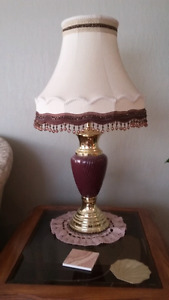 Large  Antique table lamps,  Two of them