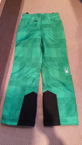 Used girl Spyder insulated ski and snowboard pants size age 10