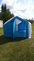 HUGE 10'x18' Unifold Hasmat Shelter Hunting Fishing Camping