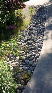 Mixture of Pebbles and larger stones