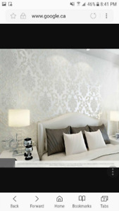Damask wallpaper special not sold in Canada