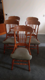 5 Vintage carved dining chairs