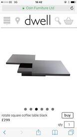 Black swivel coffee table