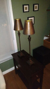 2 sets of matching table lamps