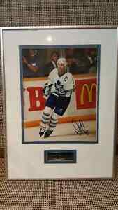Signed Doug Gilmore framed picture - Toronto Maple Leafs