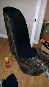 Leopard Print High Heel Chair