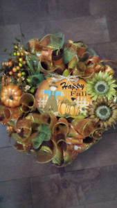 Embellished Fall/Thanksgiving Halloween Wreaths