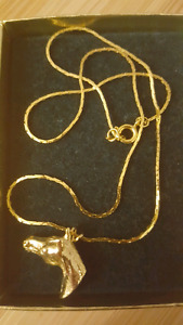Horse necklace jewelry