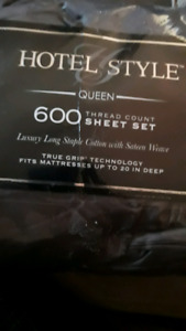 Brand New Hotel Style Queen 600 sheet set