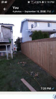 Wood fence install same day service 780 993 7771