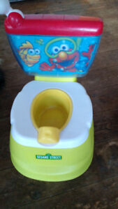 FISHER PRICE ELMO LEARN TO FLUSH TALKING  POTTY
