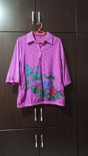 NICE PLUS SIZE LADIES TOP BLOUSE FOR SALE