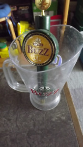 BUZZ HEMP BEER TAP HANDLE&BUZZ BEER PITCHER PACKAGE DEAL