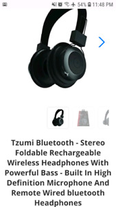 Tzumi Bluetooth wireless headphones $40 O.B.O.