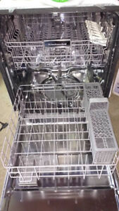 KitchenAid Front Control Dishwasher (2 Years Old) KDFE104DWH0)