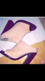 Pink/ Nude heels uk 4