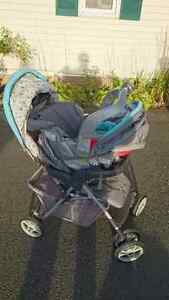 Baby stroller and car sear set