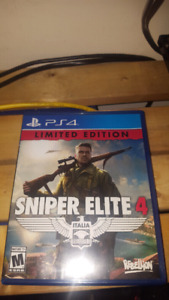 sniper elite 4 limited edition. $60