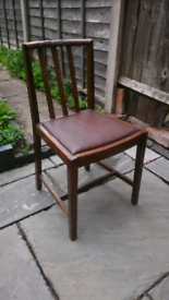 4 Old wooden dining chairs
