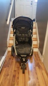 Two Graco Trekko Strollers and One Graco Snugride 30 Infant Seat
