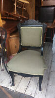 Antique East Lake Accent Chair