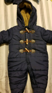 Brand new without tags 0-3 months fleece lines snowsuit
