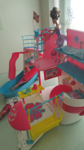 Barbie Collection - houses, cruise ship, dolls, clothing
