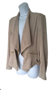 new Jones NY Faux Suede Jacket M