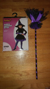 Brand new size 3-4t witch costume with broom