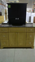 "48"" Natural Bamboo Vanity Set"
