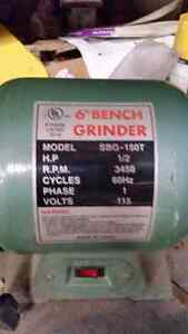 "6"" bench grinder with stand."