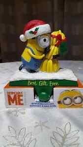 Christmas Stocking Holder Despicable Me Minion w/ Bananas NEW