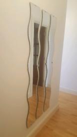 3 x Full Length Wavy Wall Mirrors