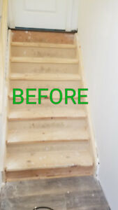 Ugly old stairs? Let us recover them in new oak!!