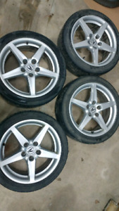 RSX TYPE S WHEELS 5X114 17 INCH DIAMETER
