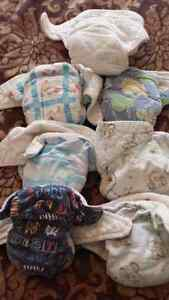 Overnight fitted Cloth Diapers. Small