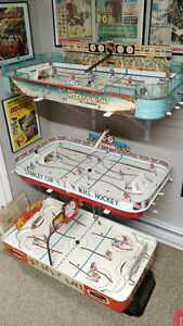 1950s, 60s, & 70s Vintage Table Top Hockey Games