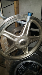 Comstar mag wheel silver front honda with disk