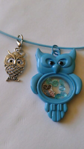 Owl Locket with Charms