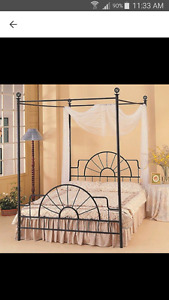 "Black Metal Canopy Bed Frame ""for sale on other sites"""