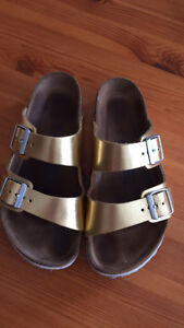 Size (36) gold Birkenstock in great condition