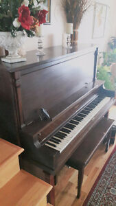 Upright Schubert Piano with Bench for sale